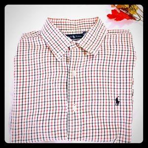 Ralph Lauren Classic Mens Button Shirt XL Plaid